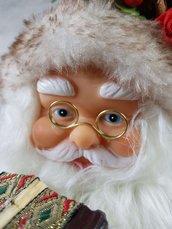 Babbo Natale musicale con Fisarmonica musica e movimento -idee regalo,fatto a mano, natale,gift ideas, handmade, christmas,decorazioni