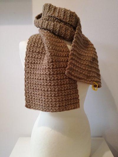 coordinato sciarpa e cappello beige