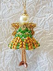 Decorazione per Albero angelo Iezalel – Linea decorazioni per Albero idee regalo,fatto a mano, natale,gift ideas, handmade, christmas