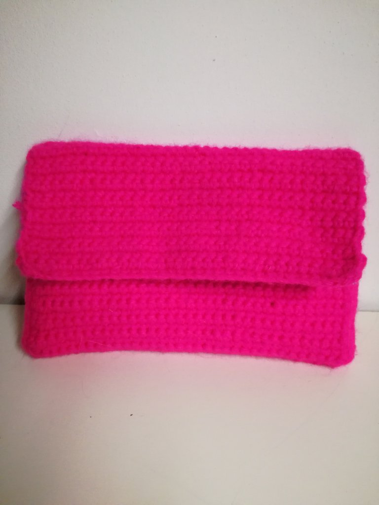 Pochette rosa fluo foderata