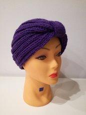 cappello in lana modello turbante