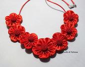 Collana kanzashi 1.8 colore rosso