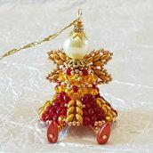 Decorazione per Albero angelo Raziel – Linea decorazioni per Albero idee regalo,fatto a mano, natale,gift ideas, handmade, christmas,