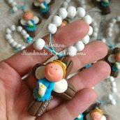 Bomboniera Comunione rosario personalizzata bimbo