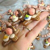 Bomboniera Comunione rosario personalizzata bimba