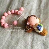 Bomboniera Comunione rosario personalizzata bimba uva