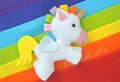 unicorno personalizzabile, unicorno portachiavi, idea bomboniera, regalo bimba, festa compleanno, portafortuna, unicorni, regalo arcobaleno