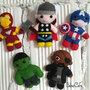 Avengers, Avengers magnete, Avengers portachiavi, magnete frigo, idea regalo, Thor, fury, captain america, ironman, hulk, marvel