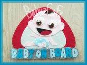 Bebè a bordo, bimbo a bordo, regalo nascita personalizzabile, regalo battesimo, segnale auto, segnale bebè a bordo, regalo neonato feltro