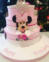 Minnie- torta scenografica promo compleanno