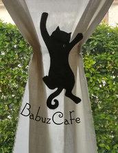 Fermatenda, fermatenda gatto, fermatenda personalizzabile, decorazione, arredo casa, idea regalo, fermatende feltro, tendaggi, drappo
