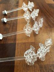 Foglie, ricambi per lampadari di in vetro soffiato di Murano, color trasparente