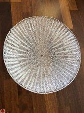 Tazza, ricambio per lampadari di Mazzega ,Toso, Barovier, Vistosi in vetro soffiato di Murano, color trasparente