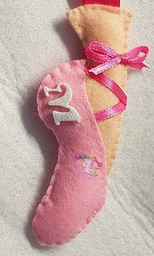 portachiavi scarpetta ballerina in pannolenci