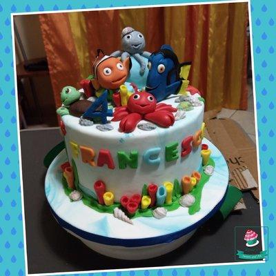 Cake topper Nemo e Dory