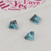 10 Perle perline triangolari effetto sfaccettate 4 mm decorazioni bomboniere spaziatori divisori bigiotteria