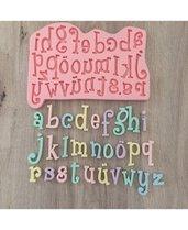 Stampo alfabeto lettere per gesso e resina