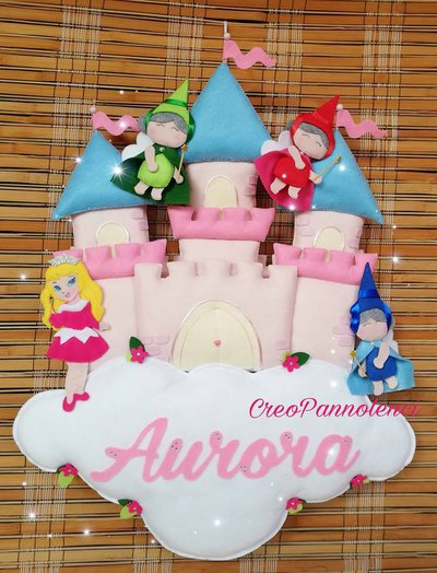 Fiocco nascita Castello Principessa Aurora