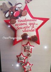 Fiocco nascita natalizio con dolcissima renna