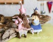 Topolini in Legno in coppia By Creazioni GiaRó  Ⓒ