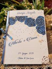 Libretto Messa con rose blu