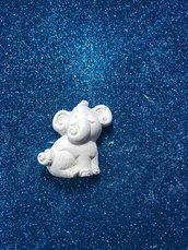 Elefante - elefantino gesso ceramico profumato per il fai da te