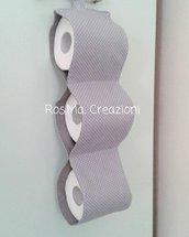 Sconto Porta Rotoli di Carta Igienica per il Bagno in Stoffa Fatto A Mano