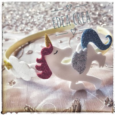 Cerchietto unicorno nuvole
