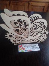 Porta tovaglioli farfalla in legno