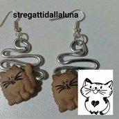 orecchini ... lavorazione wire con gatto