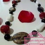 collana  pietre dure... giada e  perle nere