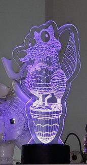Lampada led in plexiglass incisione laser