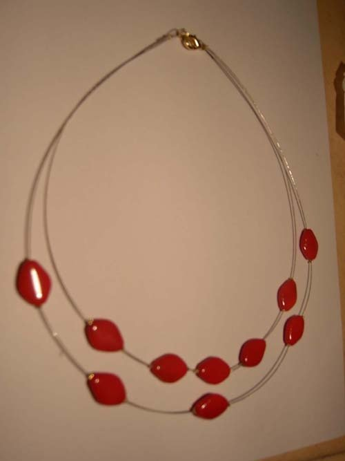 Collana con murrine rosse