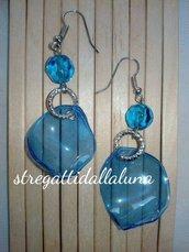 orecchini plastica blu fiordalisio
