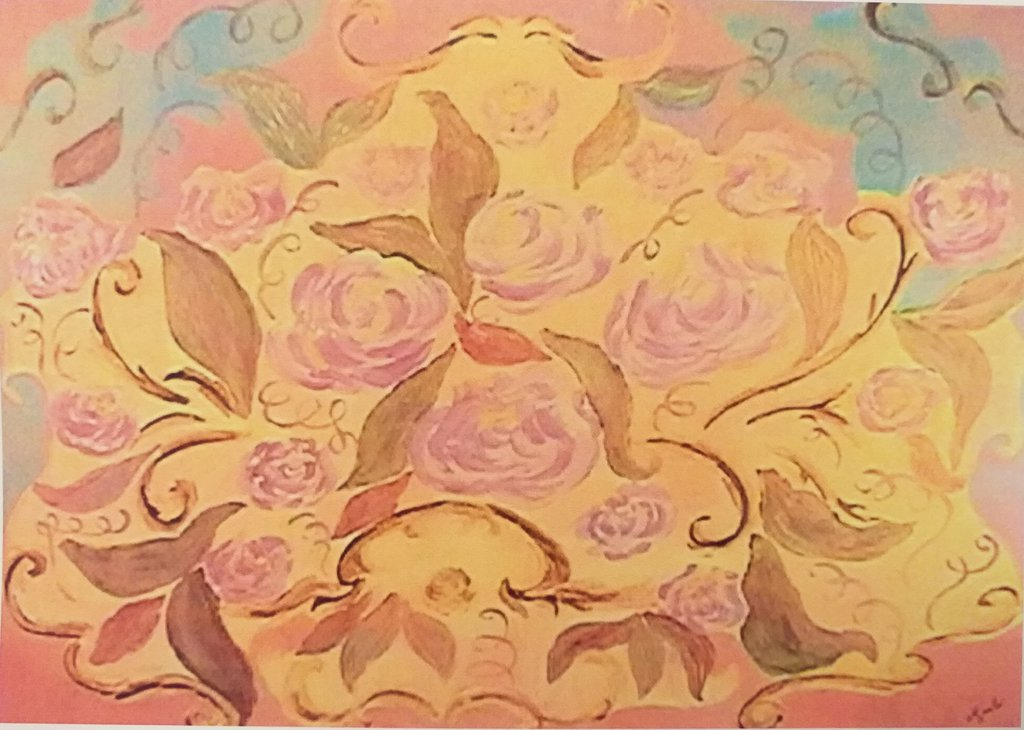Bouquet Quadro acrilico su tela