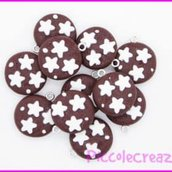 LOTTO 11 CHARM FIMO PANDISTELLE HANDMADE