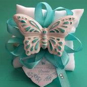 bomboniera cuscino con farfalla