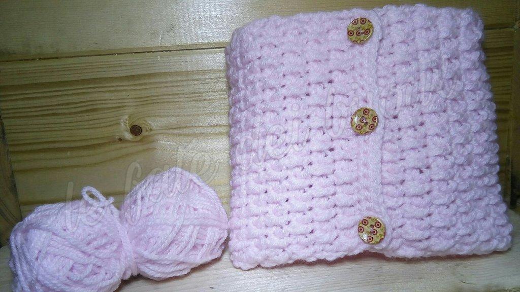 outlet 1fc15 bd82e Scaldacollo bambina in lana ad uncinetto
