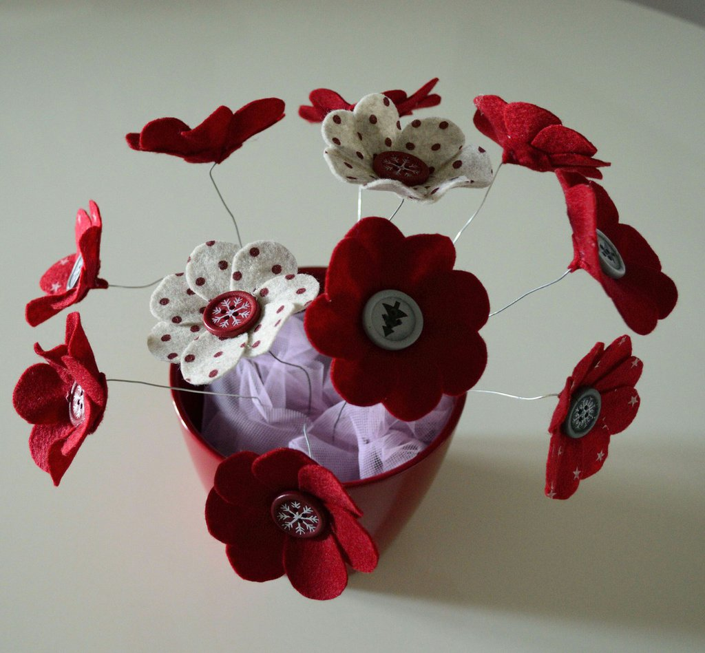 Vaso fiori feltro