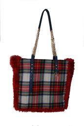 Borsa in lana scozzese