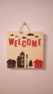 Pannello decorativo quadrato_benvenuto