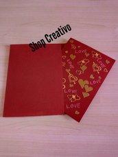 Biglietto San Valentino rosso Card amore 1
