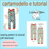 cartamodello tutina_salopette in taglia 6 mesi a 36 mesi PDF