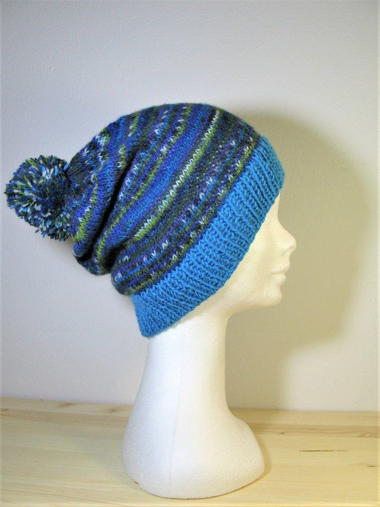 Berretto - berretto in lana - berretto fatto a mano - berretto con pom pon