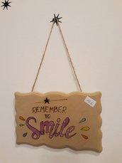Targa sagomata Smile