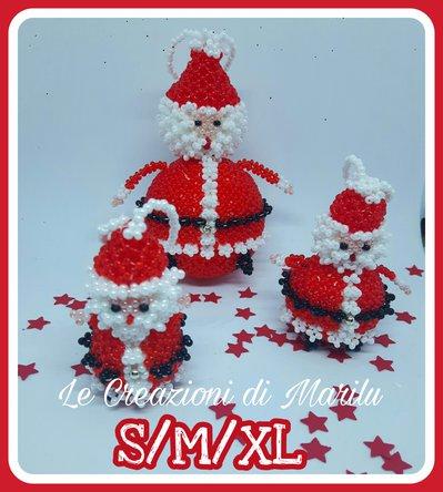 3 Tutorial della palla di Babbo Natale in formato S/M/XL -  Raccolta dei 3 schemi in formato pdf ( prima integrazione della rivista Il tissage danese a Natale)