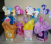 pop corn box little pony centrotavola