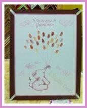 Guest book impronte Battesimo Nascita