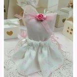 Porta confetti vestitino nascita battesimo c. Confetti