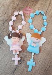Catenella con rosario e angelo